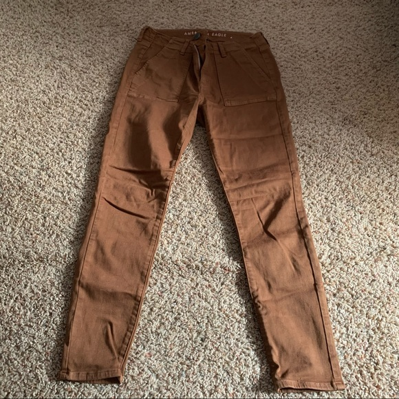 American Eagle Outfitters Denim - ❕NWOT American Eagle Brown Utility Jeggings | 6-8.